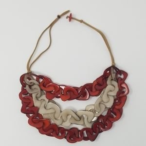 Jewelry - Handmade tagua nut necklace.